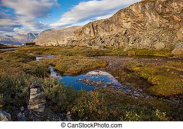 Norwegian mountain autumn landscape