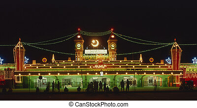 Lahore Railway Station - Main old country train station in...
