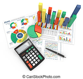 Financial Reports. - Abstract colorful infographics...