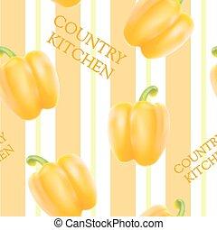 Orange bell pepper. - Orange bell pepper seamless pattern...