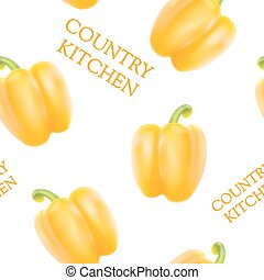 Orange bell pepper - Orange bell pepper seamless pattern for...