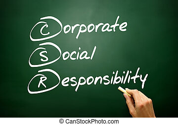 Hand drawn Corporate Social Responsibility (CSR), business conce