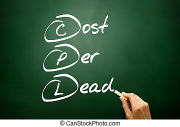 Hand drawn Cost Per Lead (CPL), business concept acronym -...
