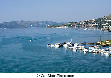 View of the Croatia - View of the Coast of Trogir in...