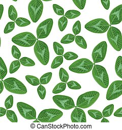 Clovers leaves seamless pattern