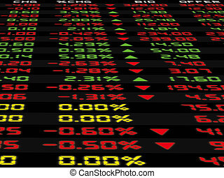 A Display of Daily Stock Market - A display of daily stock...