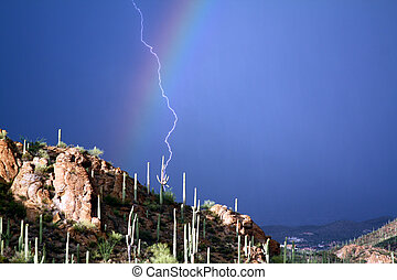 Rainbow Strike - Lightning strikes through the Rainbow