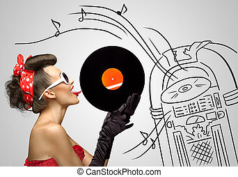 Music from jukebox.