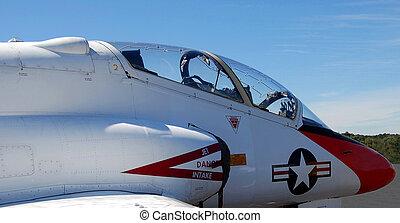 Military Jet fighter cockpit