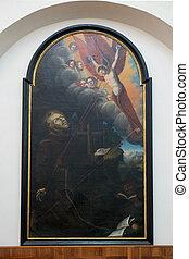 Saint Francis, Franciscan Church in Graz, Styria, Austria on...