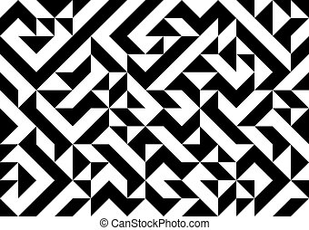 Pattern - Black and white geometric pattern