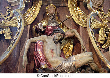 Our Lady of Sorrows - Altar of Our Lady of Sorrows,...