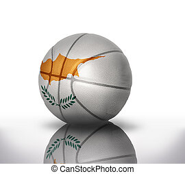 cypriot basketball - basketball ball with the national