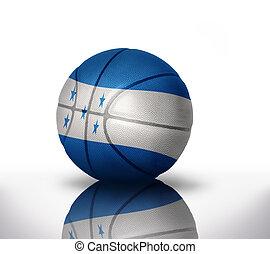 honduran basketball - basketball ball with the national flag...