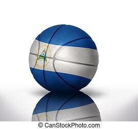nicaraguan basketball - basketball ball with the national...