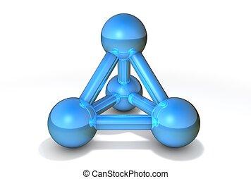 Molecule Structure Blue - simple blue/steel molecular...