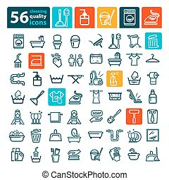 cleaning icons set - Laundry And Washing Icons for web and...