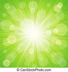 Abstract sunburst light background - Vector Abstract summer...
