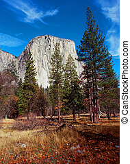 El Capitan Yosemite Valley National Park California in...
