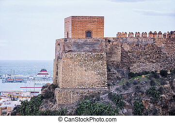 Alcazaba of Almeria - Tower of Alcazaba of Almeria is a...