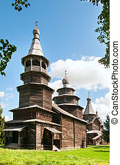 old wooden church in north west Russia
