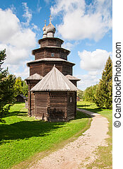 wooden church in north west Russia