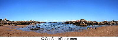 Beautiful seaside beach - Beautiful beach view during sunny...