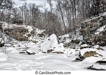 Berea Falls In Winter - Photo of Berea Falls Ohio during...