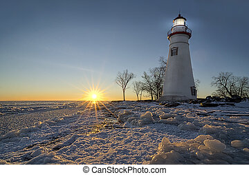 Marblehead Lighthouse Sunrise - The historic Marblehead...
