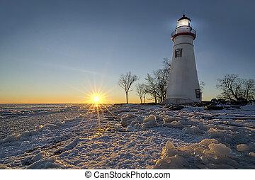Marblehead Lighthouse Sunrise - The historic Marblehead...