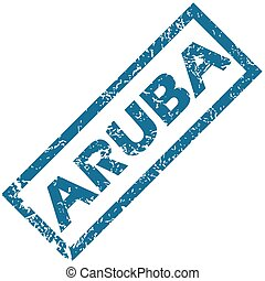 Aruba rubber stamp - Aruba grunge rubber stamp on a white...