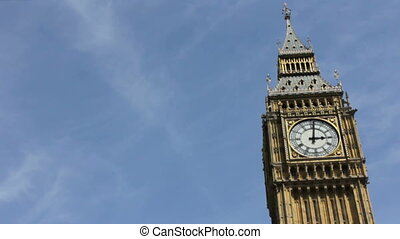 Big Ben Clock on a Sunny Day
