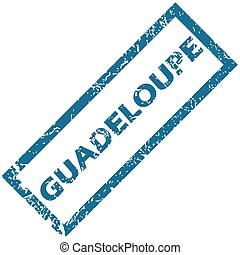 Guadeloupe rubber stamp - Guadeloupe grunge rubber stamp on...