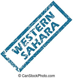 Western Sahara rubber stamp