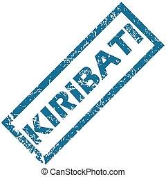 Kiribati rubber stamp - Kiribati grunge rubber stamp on a...