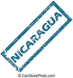 Nicaragua rubber stamp - Nicaragua grunge rubber stamp on a...
