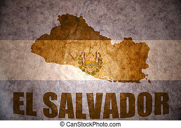 vintage el salvador map - el salvador map on a vintage...