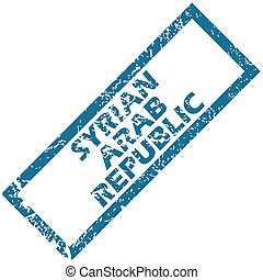 Syrian Arab Republic grunge rubber stamp on a white...