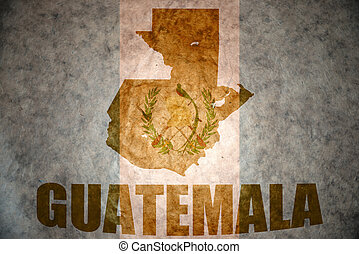vintage guatemala map - guatemala map on a vintage...