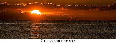 Lake Erie Sunrise - Beautiful summer sunrise along the sandy...