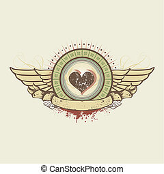 gambling - Vector illustration on a gambling subject. hearts...