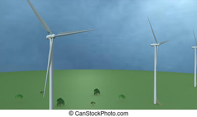 Wind energy. - Wind is the flow of gases on a large scale....