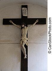 Crucifixion, Mariahilf church in Graz, Styria, Austria on...
