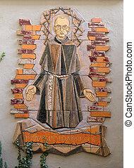 Saint Maximilian Kolbe, Mariahilf church in Graz, Styria,...