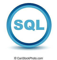 Blue sql icon on a white background Vector illustration