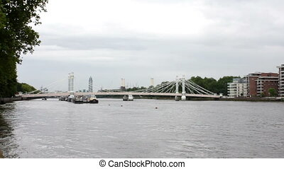 Thames River and Modern London - View upon Modern London and...
