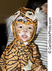 Fancy dress - Young boy in a tiger costume Photo taken on:...