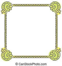 Vector children's frame on white background