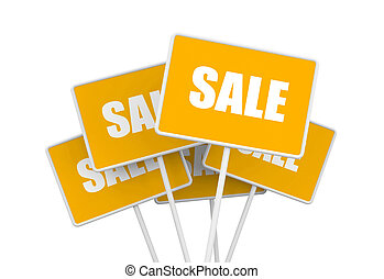 SALE - Business concept Isolated on white