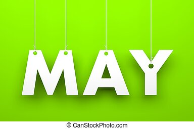 May word hanging on a strings